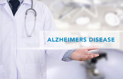 Alzheimers sjukdombegrepp Arkivfoton