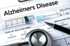 Alzheimers sjukdombegrepp, degenerative sjukdomar Parkin för hjärna arkivfoton