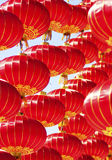 Alzi la lanterna rossa Fotografia Stock