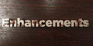 Améliorations - titre en bois sale sur l'érable - image courante gratuite de redevance rendue par 3D Photo stock