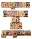 Améliorez, évoluez ou mourez Photo libre de droits