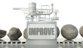 Améliorez le concept avec l'imperfection et la perfection illustration libre de droits