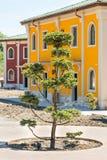 Aménageant en parc dans un hôtel cinq étoiles dans Kranevo, la Bulgarie Photographie stock libre de droits