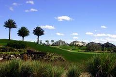 Aménagement à la ressource de golf Photos libres de droits