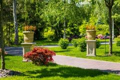 Aménagement dans le jardin Le chemin dans le jardin Beau dos Photographie stock libre de droits