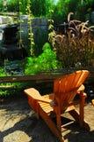Aménagement de patio et d'étang Photographie stock libre de droits