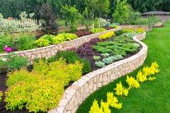Aménagement naturel dans le jardin Photo stock