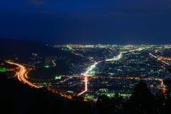Aménagez en parc au crépuscule à la région de Seisho, Kanagawa, Japon Image libre de droits