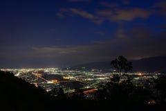 Aménagez en parc au crépuscule à la région de Seisho, Kanagawa, Japon Photo libre de droits