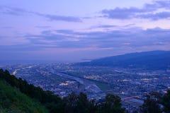 Aménagez en parc au crépuscule à la région de Seisho, Kanagawa, Japon Photos stock