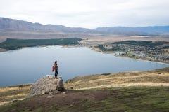 Aménagez en parc autour du bâti John Observatory près du lac Tekapo, Nouvelle-Zélande images stock