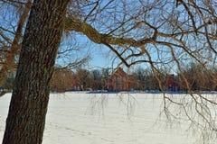 Aménagez en parc avec le pavillion d'Amirauté dans le jardin de Pushkin Photo libre de droits