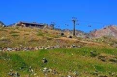 Aménagez en parc dans les senales val, Tyrol du sud Italie Image libre de droits