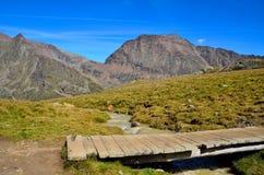 Aménagez en parc dans les senales val, Tyrol du sud Italie Images libres de droits