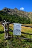 Aménagez en parc dans les senales val, Tyrol du sud Italie Images stock