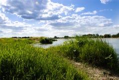 Aménagez en parc du côté de la rivière de la Loire dans les visites, Frances Photo stock