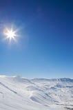 aménagez l'hiver en parc de montagne Images libres de droits