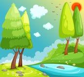 Aménagez la jungle en parc Images libres de droits