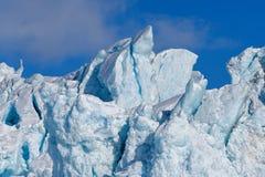 Aménagez la nature en parc de la montagne de glacier du jour polaire de soleil d'hiver arctique du Spitzberg Longyearbyen le Sval photographie stock libre de droits