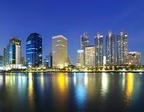 Ville de Bangkok de paysage au crépuscule photo libre de droits