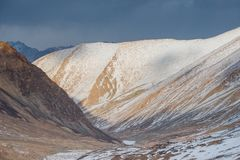Aménagez la vue en parc de la gamme de montagne dans Ladakh, Inde photo libre de droits