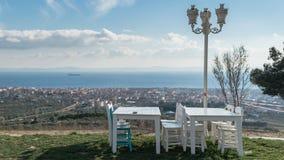 Aménagez la vue en parc de la ville de Tekirdag en Turquie photos stock