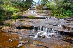 Aménagez la vue en parc des montagnes bleues nouveau Wa du sud de cascades de Katoomba photographie stock libre de droits