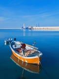 Aménagez la vue en parc du port touristique de Molfetta avec la ligne Photographie stock libre de droits