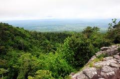 Aménagez la vue en parc sur le kla de rong de hin de phu de montagne Photos libres de droits