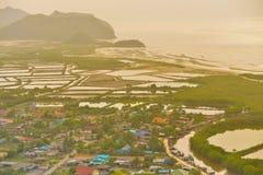 aménagez le point de vue en parc chez Khao Daeng, parc national de Sam Roi Yod, province Thaïlande de Prachuapkhirik Han Photo stock