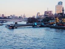 Aménagez le symbole en parc panoramique de centre de la ville d'architecture de construction de Londres de panorama de points de  Images stock