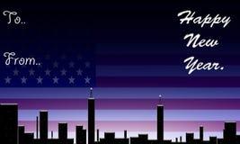América, ano novo feliz. ilustração royalty free