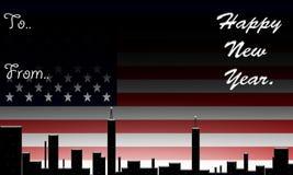 América, ano novo feliz. ilustração do vetor