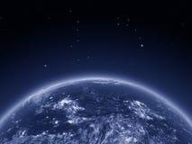 América Central do espaço na noite Fotografia de Stock