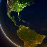 América Central na noite Foto de Stock