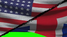 América CONTRA las banderas de Gran Bretaña metrajes