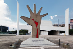 América latina Sao Paulo conmemorativa el Brasil Fotografía de archivo libre de regalías