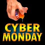 América lunes cibernético Fotografía de archivo