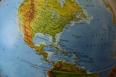 América - mapa político altamente detalhado fotografia de stock
