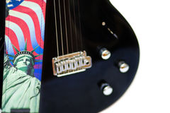 América oscila - guitarra y estatua de la libertad Fotos de archivo libres de regalías