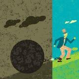 América que quebra livre de sua dívida pública ilustração stock