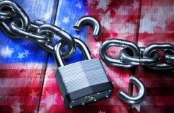 América quebrada imagen de archivo