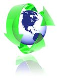 América recicla Imágenes de archivo libres de regalías