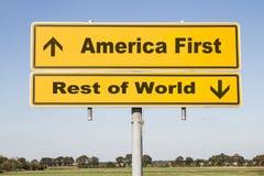 América y resto del mundo Fotografía de archivo libre de regalías