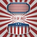 Américain 4ème des bannières de vacances de juillet Images libres de droits