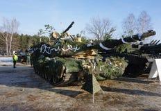Américain Abrams en Pologne photos libres de droits