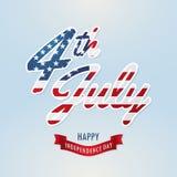 Américain de Jour de la Déclaration d'Indépendance Photographie stock