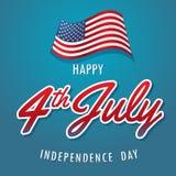 Américain de Jour de la Déclaration d'Indépendance Photos stock