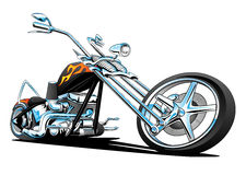 Américain fait sur commande Chopper Motorcycle, couleur image stock