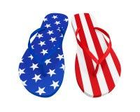 Américain Flip Flops Isolated Images libres de droits